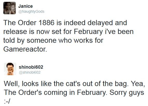 The Order 1886 zostało przesunięte na rok 2015?