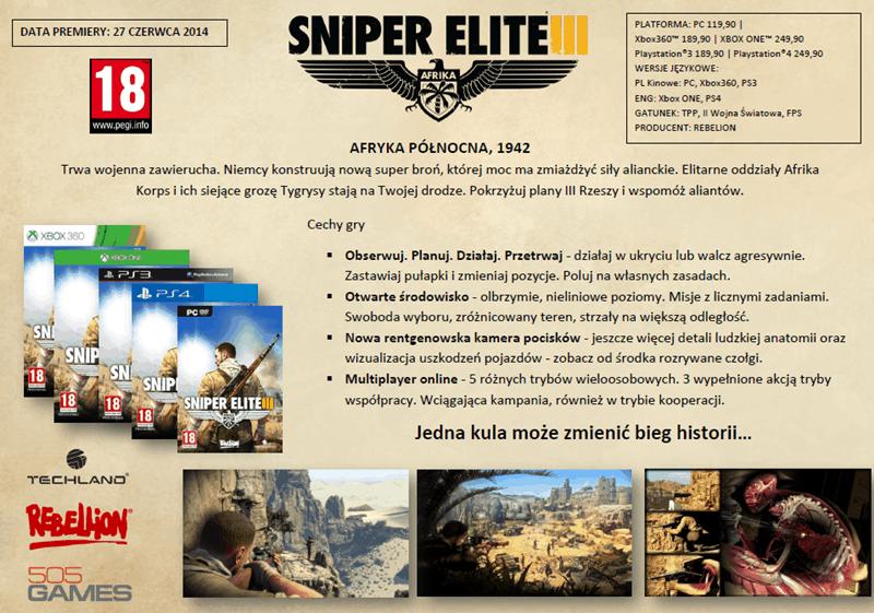 Sniper Elite III: Afrika w pełnej krasie!