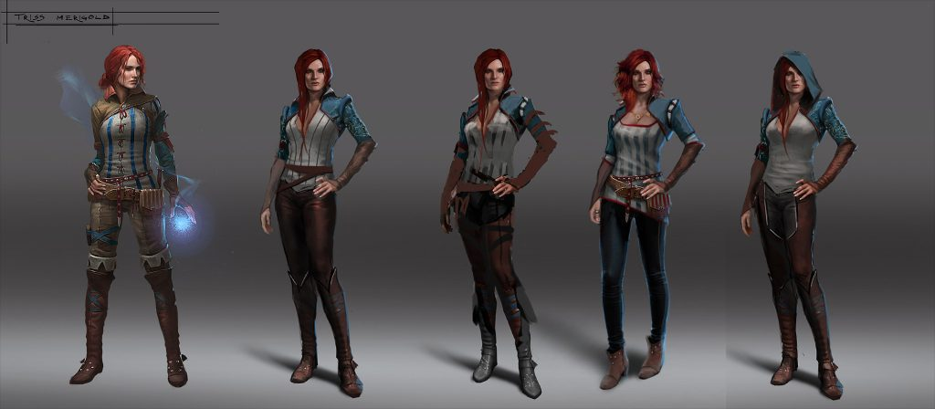 Jedna z bohaterek gry i jej  kilka stylizacji.