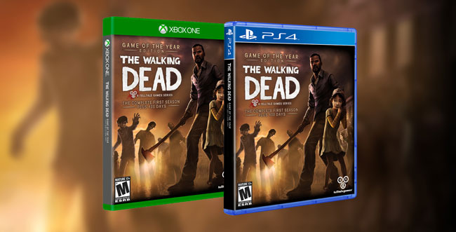 The Walking Dead w wersjach na Xbox One oraz PlayStation 4.