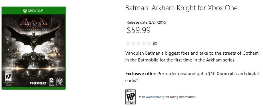 Batman: Arkham Knight - poznaliśmy datę premiery gry?
