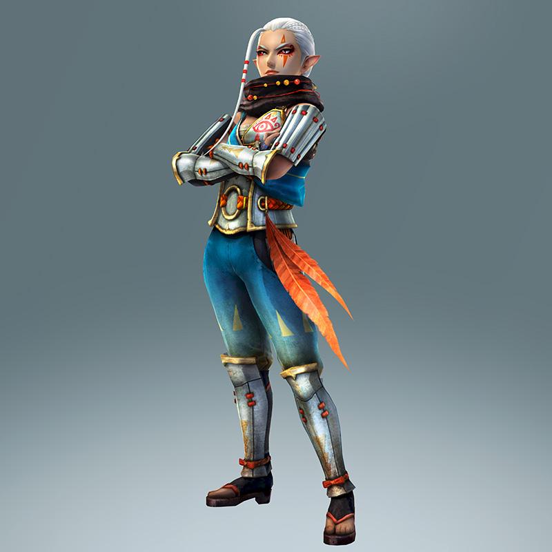 Impa w całej okazałości. Jedna z głównych bohaterek Hyrule Warriors.