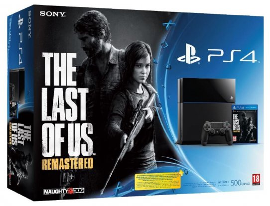 Zestaw PlayStation 4 wraz z grą The Last of Us Remastered.