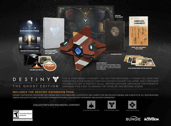 Destiny w wersji Ghost Edition.
