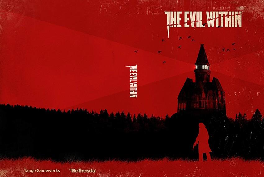 The Evil Within - wzór drugiej okładki.