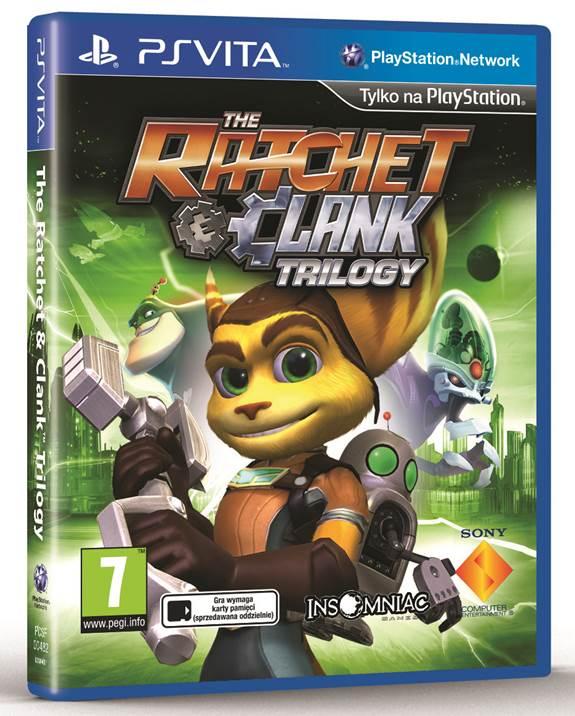 The Ratchet & Clank Trilogy na PlayStation Vita.