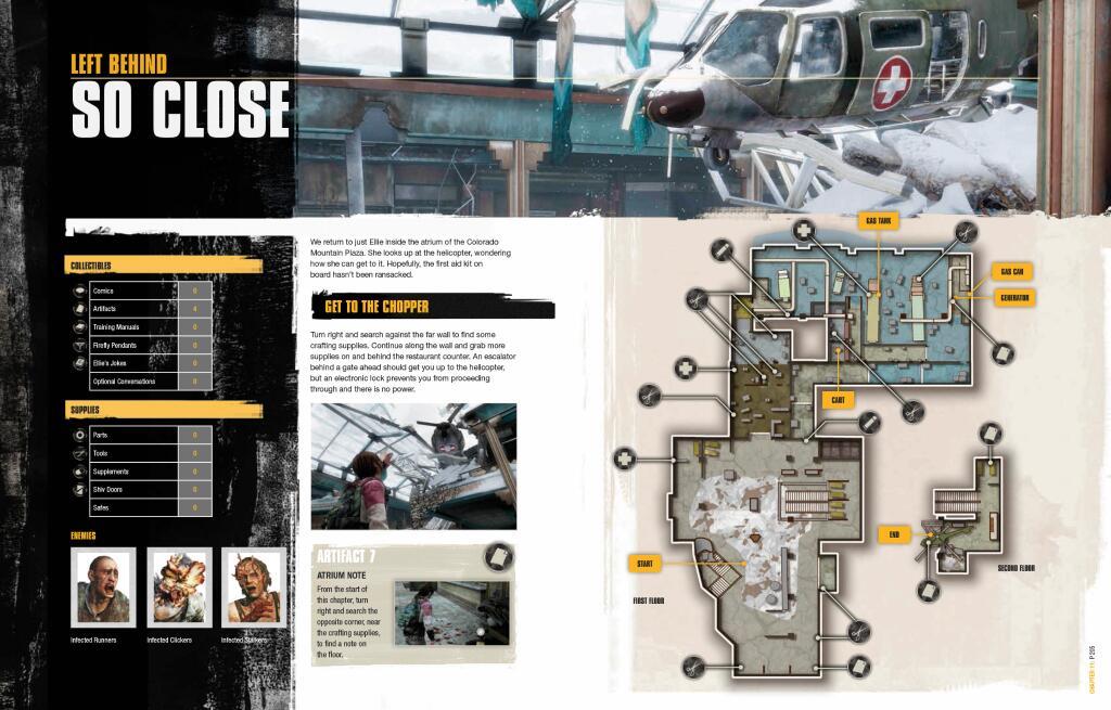 Mapy lokacji z The Last of Us Remastered.