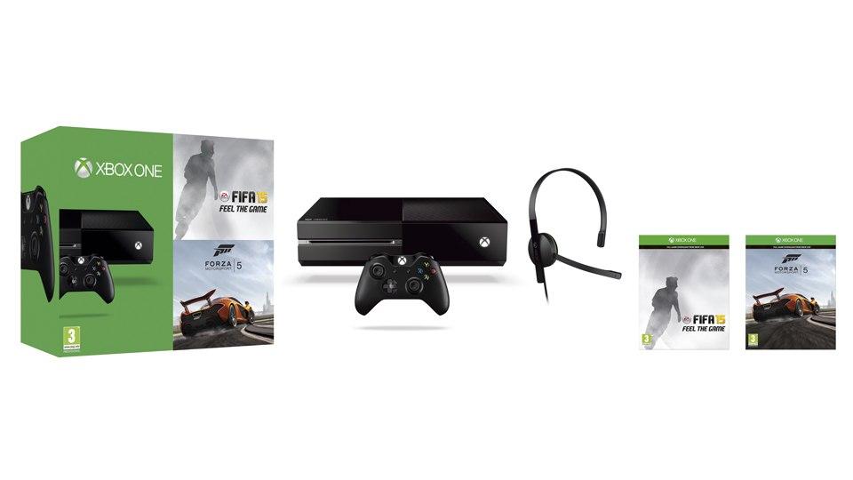 Konsola Xbox One w zestawie z grami FIFA 15 oraz Forza Motorsport 5.