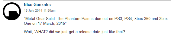 Data premiery Metal Gear Solid V: The Phantom Pain?