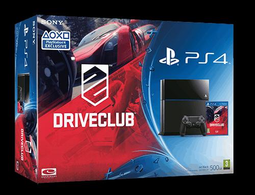Zestaw PlayStation 4 wraz z grą wyścigową Driveclub.