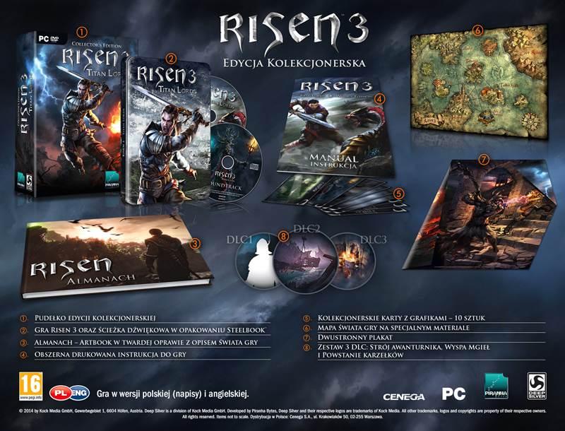 Edycja kolekcjonerska gry Risen 3: Titan Lords.