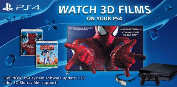 Od dzisiaj odtworzycie filmy 3D na PlayStation 4!
