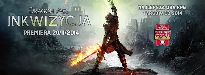 Dragon Age: Inkwizycja okazało się być najlepszą grą targów E3 2014. Premiera pod koniec roku na Xbox One oraz PlayStation 4.