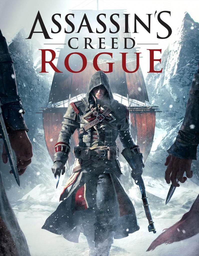 Etykieta promująca Assassin's Creed: Rogue na PlayStation 3 oraz Xboksa 360.