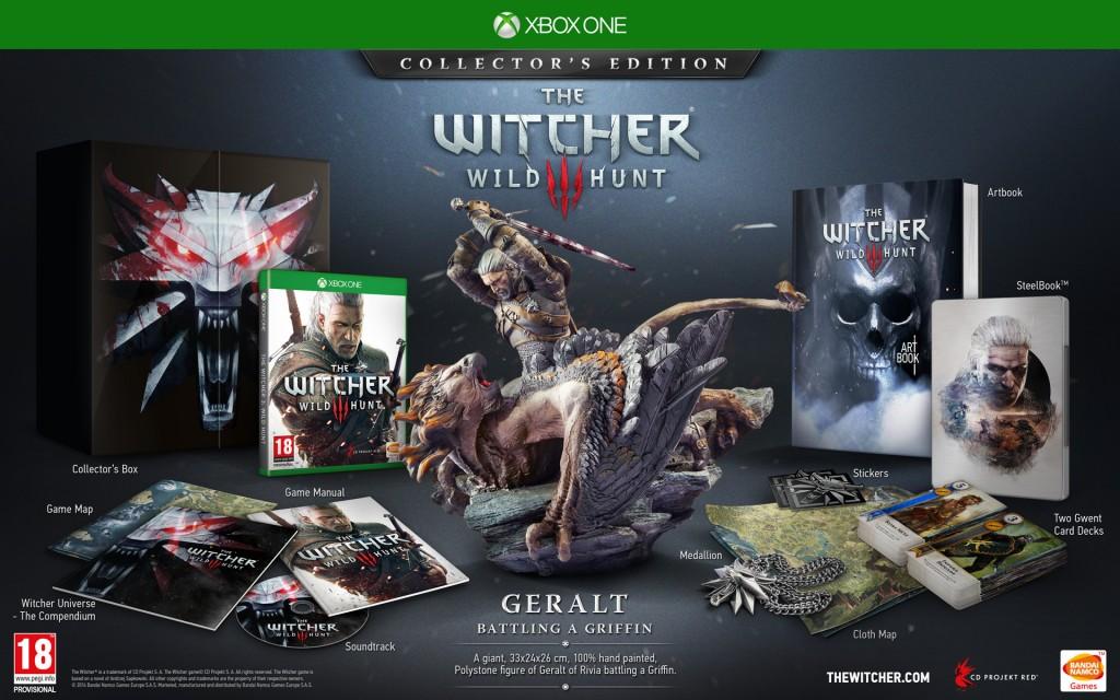 Edycja Kolekcjonerska Wiedźmin 3: Dziki Gon w wersji na Xbox One.
