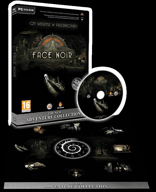 Zawartość pudełka z grą Face Noir.