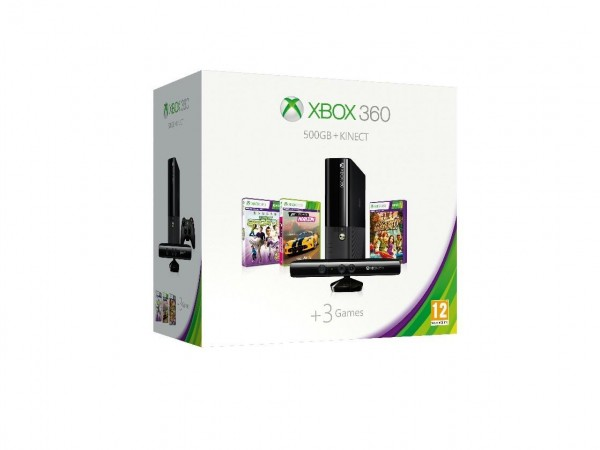 Xbox 360 wraz z grami na Kinecta i Forza Horizon.