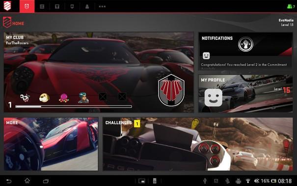 Aplikacja mobilna dla DriveClub.