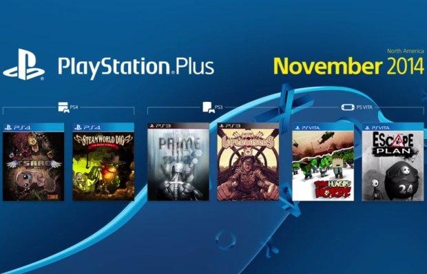 Oferta PlayStation Plus na listopad 2014 dla Ameryki Północnej.