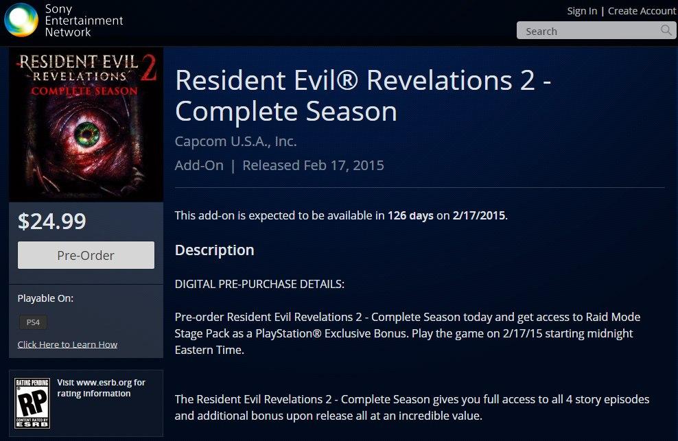 Czyżby dokładna data premiery Resident Evil: Revelations 2?