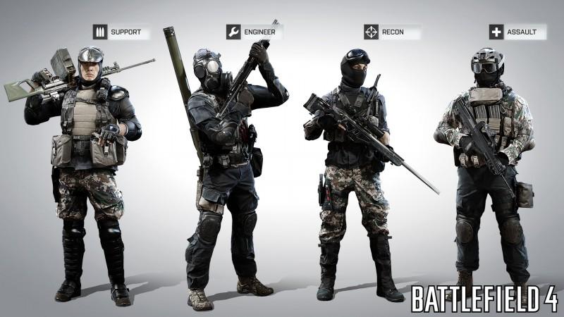 Battlefield 4 daje dostęp do czterech klas postaci, czy w piątej odsłonie serii twórcy dorzucą kogoś nowego?
