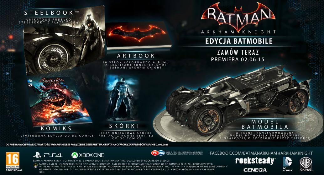 Batman: Arkham Knight w edycji limitowanej.