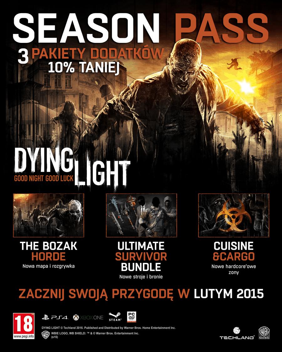 Dodatki do Dying Light w formie przepustki sezonowej!