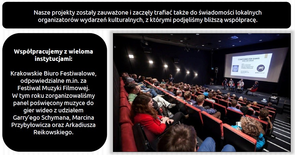 Redakcja gamemusic.pl ma na koncie nie tylko świetnie prowadzone radio, ale również różne imprezy oraz projekty.