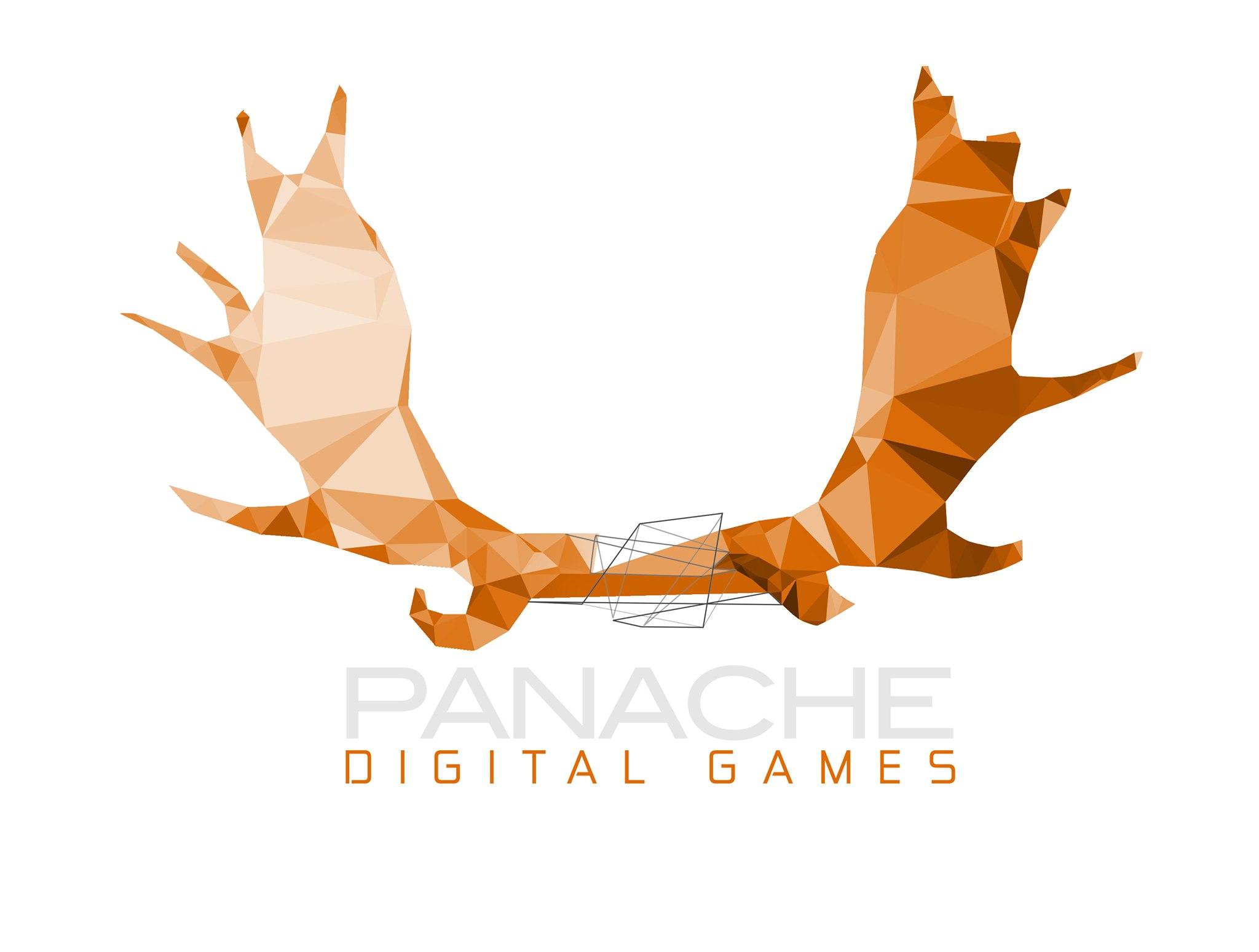 Oficjalny logotyp studia Panache Digital Games.