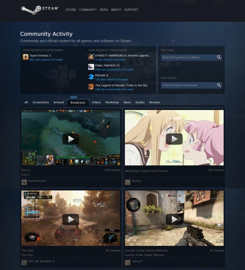 Steam Broadcasting - alternatywa dla Twitcha oraz Ustream.