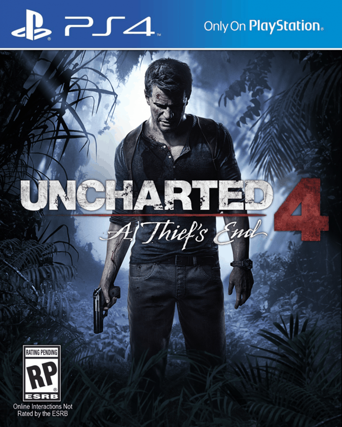 Okładka Uncharted 4: A Thief's End.