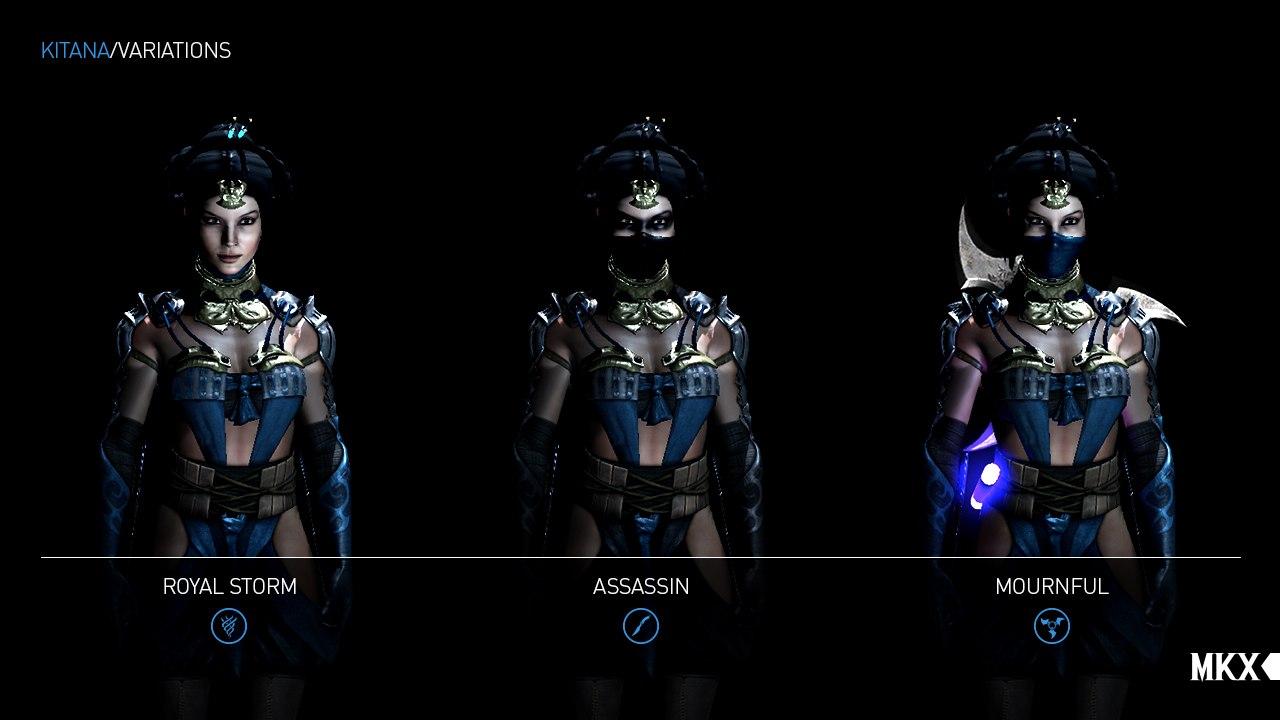Style i stroje Kitany z Mortal Kombat X.