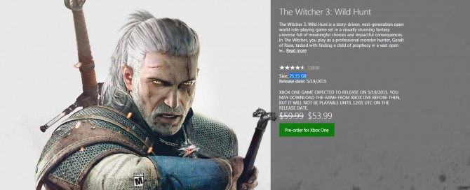 Witcher3 xbox one