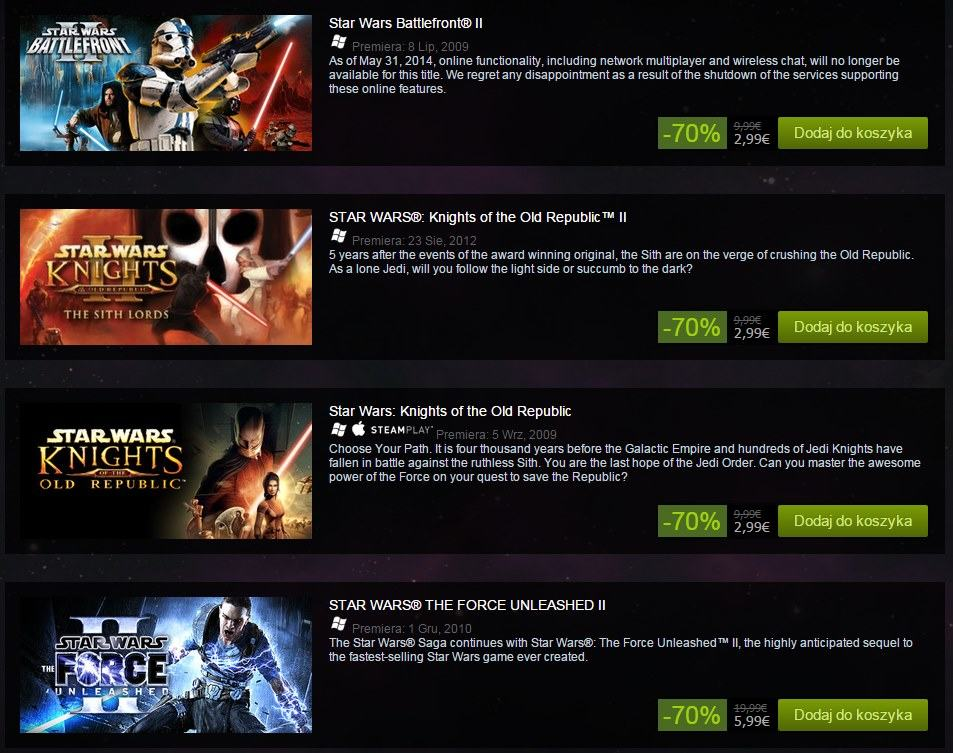 star wars steam