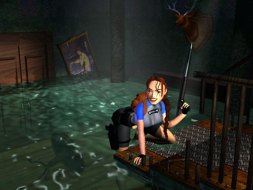 tomb raider 2 wall