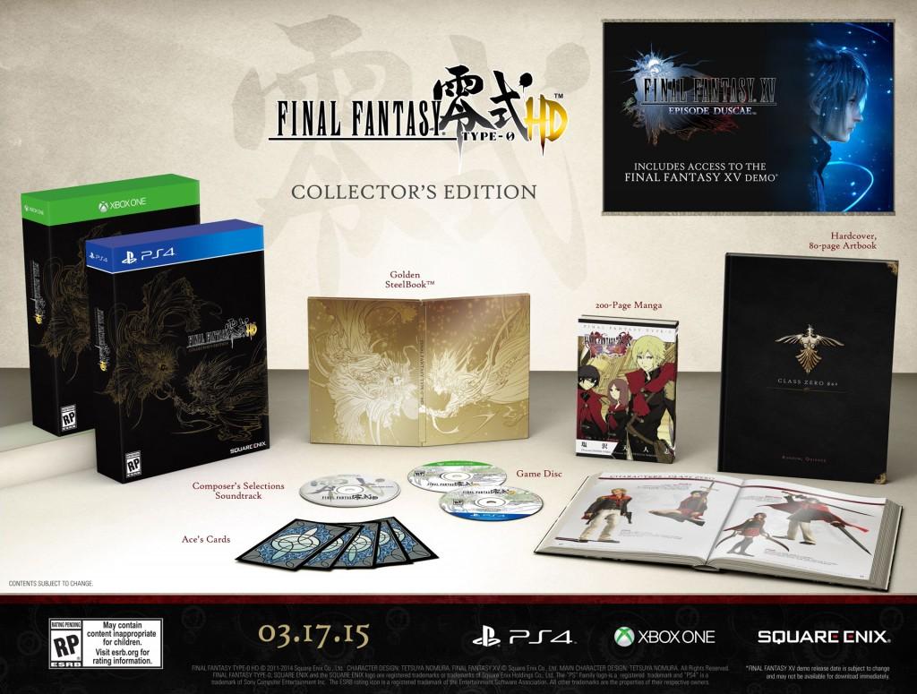Edycja kolekcjonerska Final Fantasy Type-0 HD.